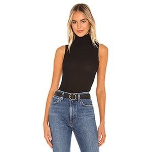 Free People Take On The Turtle Bodysuit Black NWT